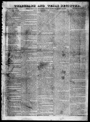 Primary view of object titled 'Telegraph and Texas Register (Houston, Tex.), Vol. 5, No. 37, Ed. 1, Wednesday, July 8, 1840'.