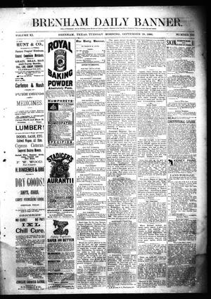 Primary view of object titled 'Brenham Daily Banner. (Brenham, Tex.), Vol. 11, No. 132, Ed. 1 Tuesday, September 28, 1886'.