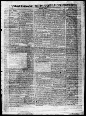Primary view of Telegraph and Texas Register (Houston, Tex.), Vol. 5, No. 48, Ed. 1, Wednesday, October 14, 1840