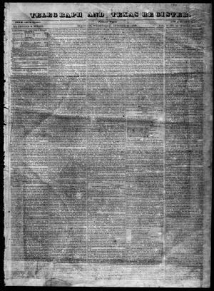 Primary view of object titled 'Telegraph and Texas Register (Houston, Tex.), Vol. 5, No. 49, Ed. 1, Wednesday, October 21, 1840'.