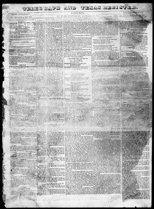 Telegraph and Texas Register (Houston, Tex.), Vol. 6, No. 8, Ed. 1, Wednesday, January 13, 1841