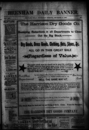 Primary view of object titled 'Brenham Daily Banner. (Brenham, Tex.), Vol. 20, No. 281, Ed. 1 Wednesday, December 16, 1896'.