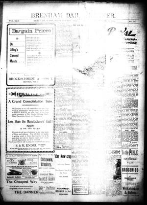 Primary view of object titled 'Brenham Daily Banner. (Brenham, Tex.), Vol. 25, No. 267, Ed. 1 Saturday, November 17, 1900'.