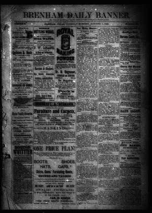 Primary view of object titled 'Brenham Daily Banner. (Brenham, Tex.), Vol. 10, No. 235, Ed. 1 Thursday, October 1, 1885'.