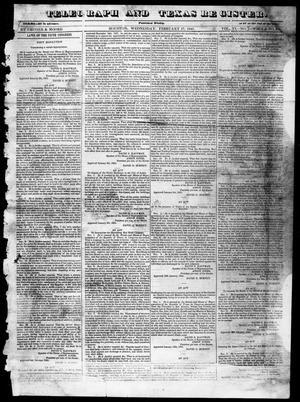 Primary view of object titled 'Telegraph and Texas Register (Houston, Tex.), Vol. 6, No. 13, Ed. 1, Wednesday, February 17, 1841'.