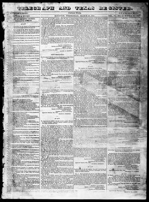 Primary view of object titled 'Telegraph and Texas Register (Houston, Tex.), Vol. 6, No. 16, Ed. 1, Wednesday, March 10, 1841'.