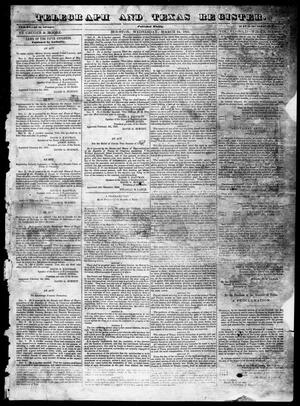 Primary view of object titled 'Telegraph and Texas Register (Houston, Tex.), Vol. 6, No. 18, Ed. 1, Wednesday, March 24, 1841'.