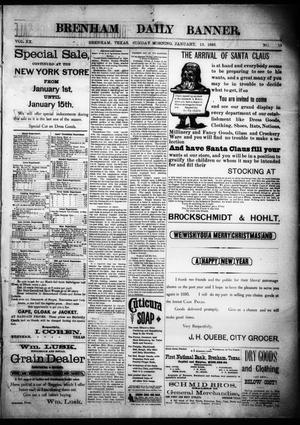 Primary view of Brenham Daily Banner. (Brenham, Tex.), Vol. 20, No. 12, Ed. 1 Sunday, January 13, 1895