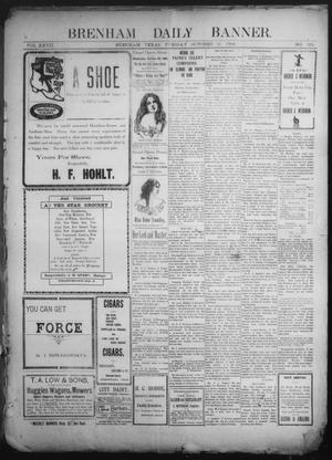 Primary view of object titled 'Brenham Daily Banner. (Brenham, Tex.), Vol. 27, No. 192, Ed. 1 Tuesday, October 21, 1902'.