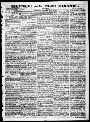 Primary view of object titled 'Telegraph and Texas Register (Houston, Tex.), Vol. 6, No. 33, Ed. 1, Wednesday, July 14, 1841'.