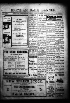 Primary view of object titled 'Brenham Daily Banner. (Brenham, Tex.), Vol. 25, No. 73, Ed. 1 Tuesday, March 27, 1900'.