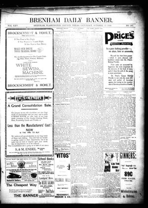Primary view of object titled 'Brenham Daily Banner. (Brenham, Tex.), Vol. 25, No. 237, Ed. 1 Saturday, October 13, 1900'.