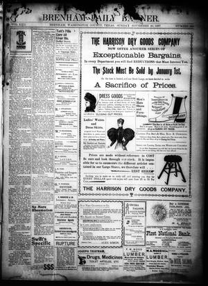 Primary view of object titled 'Brenham Daily Banner. (Brenham, Tex.), Vol. 22, No. 290, Ed. 1 Sunday, November 28, 1897'.