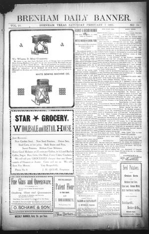Primary view of object titled 'Brenham Daily Banner. (Brenham, Tex.), Vol. 28, No. 34, Ed. 1 Saturday, February 7, 1903'.