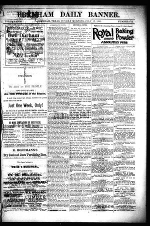 Primary view of object titled 'Brenham Daily Banner. (Brenham, Tex.), Vol. 17, No. 172, Ed. 1 Sunday, July 17, 1892'.