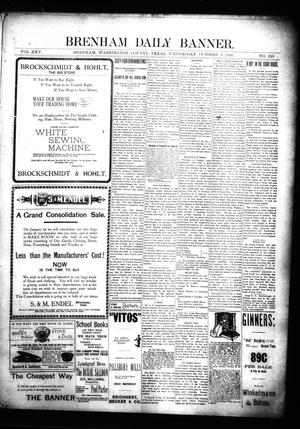 Primary view of object titled 'Brenham Daily Banner. (Brenham, Tex.), Vol. 25, No. 228, Ed. 1 Wednesday, October 3, 1900'.