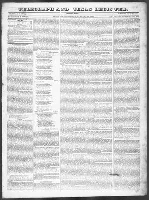 Primary view of object titled 'Telegraph and Texas Register (Houston, Tex.), Vol. 7, No. 4, Ed. 1, Wednesday, January 12, 1842'.