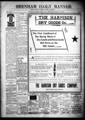 Primary view of object titled 'Brenham Daily Banner. (Brenham, Tex.), Vol. 22, No. 69, Ed. 1 Saturday, March 20, 1897'.