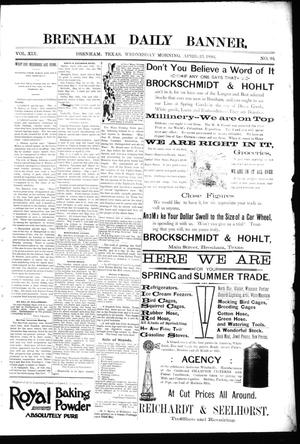 Primary view of object titled 'Brenham Daily Banner. (Brenham, Tex.), Vol. 19, No. 94, Ed. 1 Wednesday, April 25, 1894'.