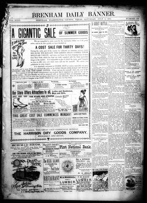 Primary view of object titled 'Brenham Daily Banner. (Brenham, Tex.), Vol. 23, No. 159, Ed. 1 Saturday, July 2, 1898'.