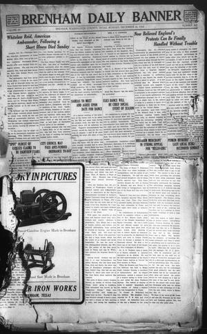 Primary view of object titled 'Brenham Daily Banner (Brenham, Tex.), Vol. 29, No. 215, Ed. 1 Monday, December 16, 1912'.