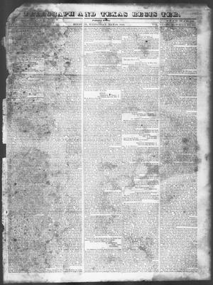 Primary view of object titled 'Telegraph and Texas Register (Houston, Tex.), Vol. 7, No. 22, Ed. 1, Wednesday, May 18, 1842'.