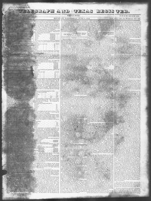 Primary view of Telegraph and Texas Register (Houston, Tex.), Vol. 7, No. 24, Ed. 1, Wednesday, June 1, 1842