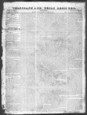 Telegraph and Texas Register (Houston, Tex.), Vol. 7, No. 28, Ed. 1, Wednesday, June 29, 1842