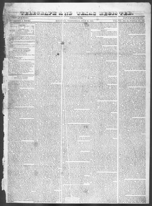 Primary view of Telegraph and Texas Register (Houston, Tex.), Vol. 7, No. 31, Ed. 1, Wednesday, July 20, 1842
