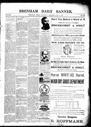 Primary view of object titled 'Brenham Daily Banner. (Brenham, Tex.), Vol. 19, No. 131, Ed. 1 Thursday, June 7, 1894'.