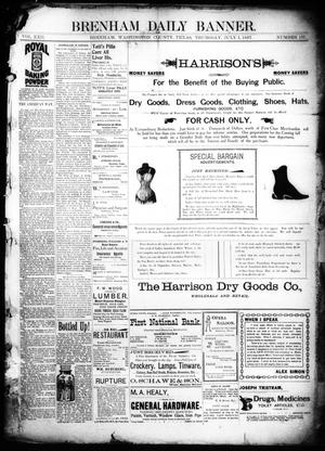 Primary view of object titled 'Brenham Daily Banner. (Brenham, Tex.), Vol. 22, No. 157, Ed. 1 Thursday, July 1, 1897'.