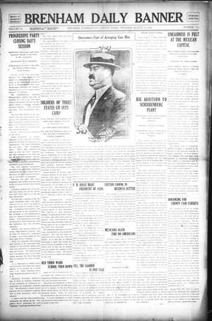Primary view of object titled 'Brenham Daily Banner (Brenham, Tex.), Vol. 29, No. 116, Ed. 1 Thursday, August 8, 1912'.
