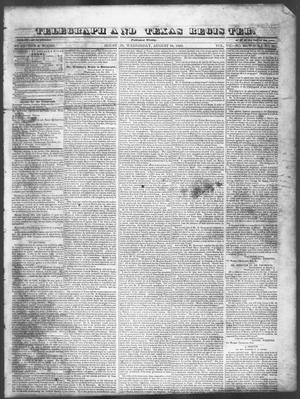 Primary view of object titled 'Telegraph and Texas Register (Houston, Tex.), Vol. 7, No. 36, Ed. 1, Wednesday, August 24, 1842'.