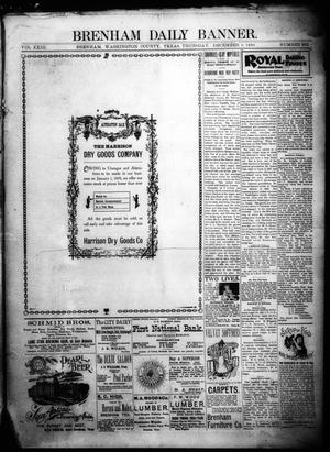 Primary view of object titled 'Brenham Daily Banner. (Brenham, Tex.), Vol. 23, No. 295, Ed. 1 Thursday, December 8, 1898'.