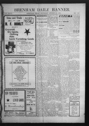 Primary view of object titled 'Brenham Daily Banner. (Brenham, Tex.), Vol. 27, No. 143, Ed. 1 Thursday, August 14, 1902'.