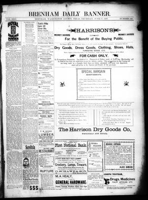Primary view of object titled 'Brenham Daily Banner. (Brenham, Tex.), Vol. 22, No. 144, Ed. 1 Thursday, June 17, 1897'.