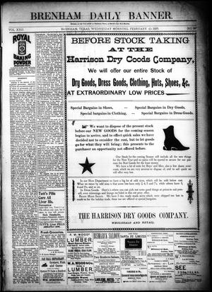 Primary view of object titled 'Brenham Daily Banner. (Brenham, Tex.), Vol. 22, No. 36, Ed. 1 Wednesday, February 10, 1897'.