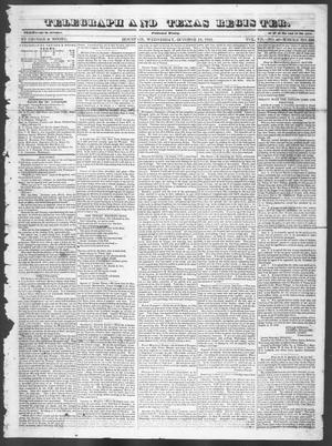 Primary view of Telegraph and Texas Register (Houston, Tex.), Vol. 7, No. 43, Ed. 1, Wednesday, October 12, 1842