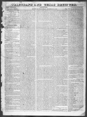 Primary view of Telegraph and Texas Register (Houston, Tex.), Vol. 7, No. 52, Ed. 1, Wednesday, December 14, 1842