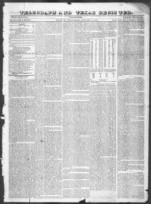 Primary view of object titled 'Telegraph and Texas Register (Houston, Tex.), Vol. 8, No. 4, Ed. 1, Wednesday, January 11, 1843'.