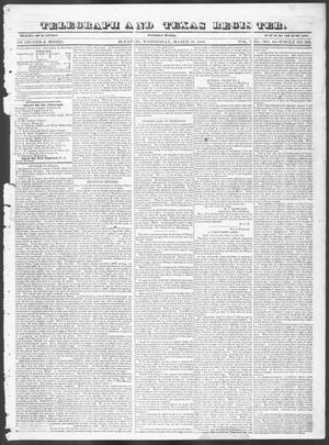Primary view of Telegraph and Texas Register (Houston, Tex.), Vol. 8, No. 15, Ed. 1, Wednesday, March 29, 1843