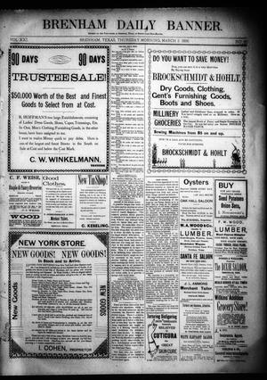 Primary view of object titled 'Brenham Daily Banner. (Brenham, Tex.), Vol. 21, No. 60, Ed. 1 Thursday, March 5, 1896'.