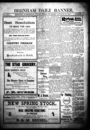 Primary view of object titled 'Brenham Daily Banner. (Brenham, Tex.), Vol. 25, No. 21, Ed. 1 Thursday, January 25, 1900'.