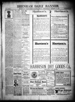 Primary view of object titled 'Brenham Daily Banner. (Brenham, Tex.), Vol. 22, No. 257, Ed. 1 Wednesday, October 20, 1897'.