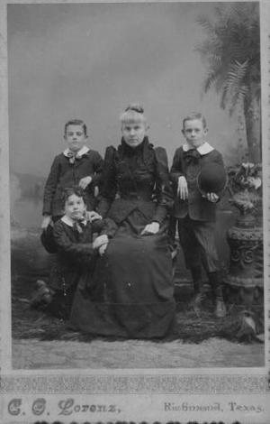 Primary view of object titled '[Archie Davis Jones and her sons.]'.