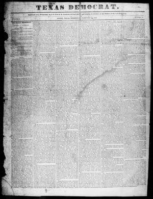 Primary view of object titled 'The Texas Democrat (Austin, Tex.), Vol. 1, No. 4, Ed. 1, Wednesday, February 11, 1846'.