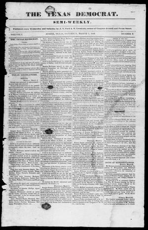 The Texas Democrat (Austin, Tex.), Vol. 1, No. 8, Ed. 1, Saturday, March 7, 1846