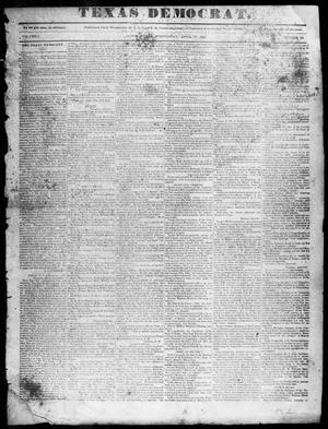 Primary view of object titled 'The Texas Democrat (Austin, Tex.), Vol. 1, No. 16, Ed. 1, Wednesday, April 15, 1846'.