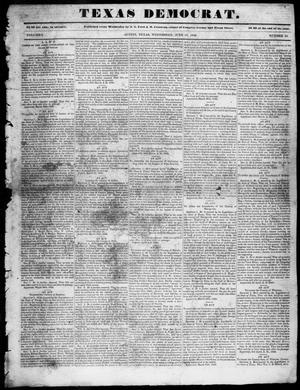 Primary view of object titled 'The Texas Democrat (Austin, Tex.), Vol. 1, No. 24, Ed. 1, Wednesday, June 17, 1846'.