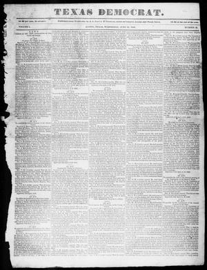 Primary view of object titled 'The Texas Democrat (Austin, Tex.), Vol. 1, No. 25, Ed. 1, Wednesday, June 24, 1846'.